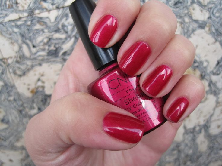 CND shellac in Red Baroness... very pretty -- for an upcoming wedding?