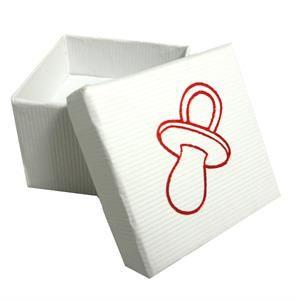 Dárková krabička - Dudlík červený