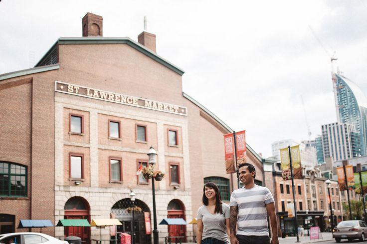 St.Lawrence Market engagement photos