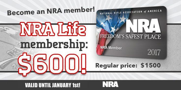 Save Big on NRA Life Membership (60% Discount)