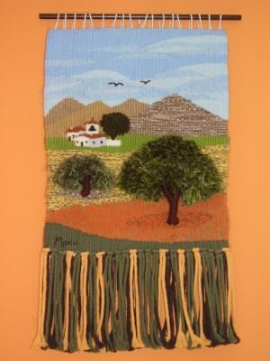 la hermita tapiz lana urdimbre,, mixta,