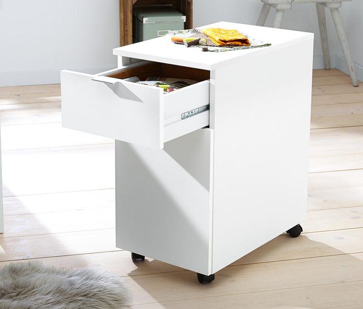 69,95 € Flexibles Design  Das Büromöbel steht auf 4 praktischen Kunststoffrollen, wovon 2 festgestellt werden können. So lässt sich der Container bequem unter den Schreibtisch schieben, um Platz zu sparen.