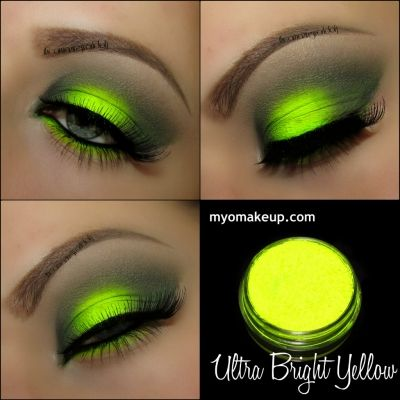 This would be great for neon party :) Single Eyeshadow Pigments - MYO Eyeshadow Pigment Ultra Bright Yellow Mica Loose Powder Cosmetic Makeup (Powered by CubeCart)