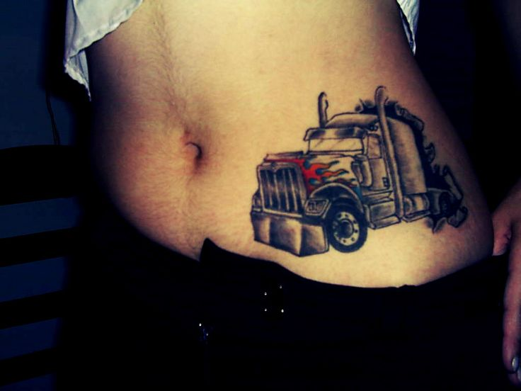 its an international but good idea for a peterbilt tattoo placed somewere else like on my. Black Bedroom Furniture Sets. Home Design Ideas
