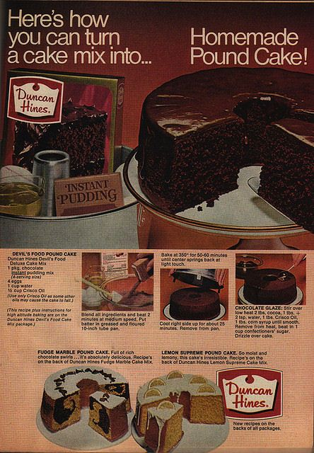 Duncan Hines Devil S Food Pound Cake Recipe