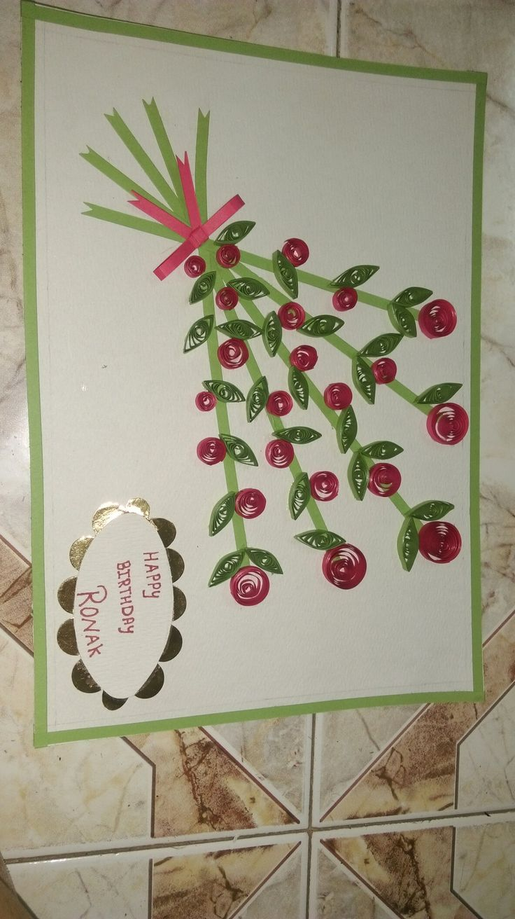 #quilling#bdaycard#flowers