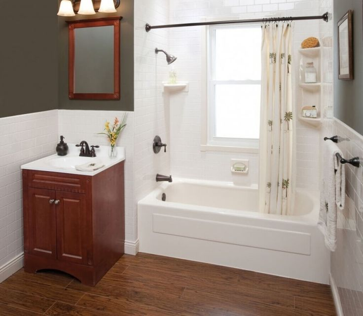 Pics On  Rental Apartment Remodels With the Highest ROI u Apartment Geeks Small Bathroom RemodelingSmall BathroomsHome RemodelingHome Depot