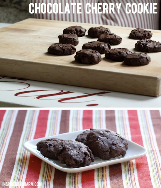 Chocolate Cherry Cookie // It's Fall Cookie Week at Inspired by Charm. Visit every day for a new recipe!Fall Cookies, Cookies Brownies, Cookies Weeks, Cookies Fallcookieweek, Yum, Cheery Cookies, Cherries Cookies