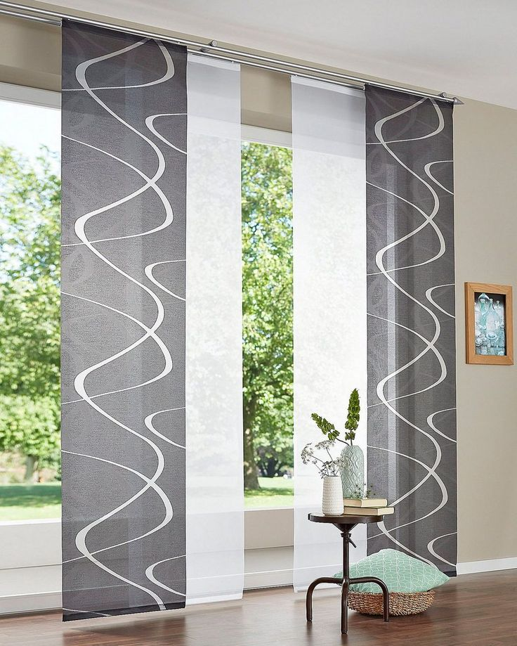 Sliding curtain »Pelotas«, DEKO TRENDS, Velcro tape (1 piece), without mounting accessories