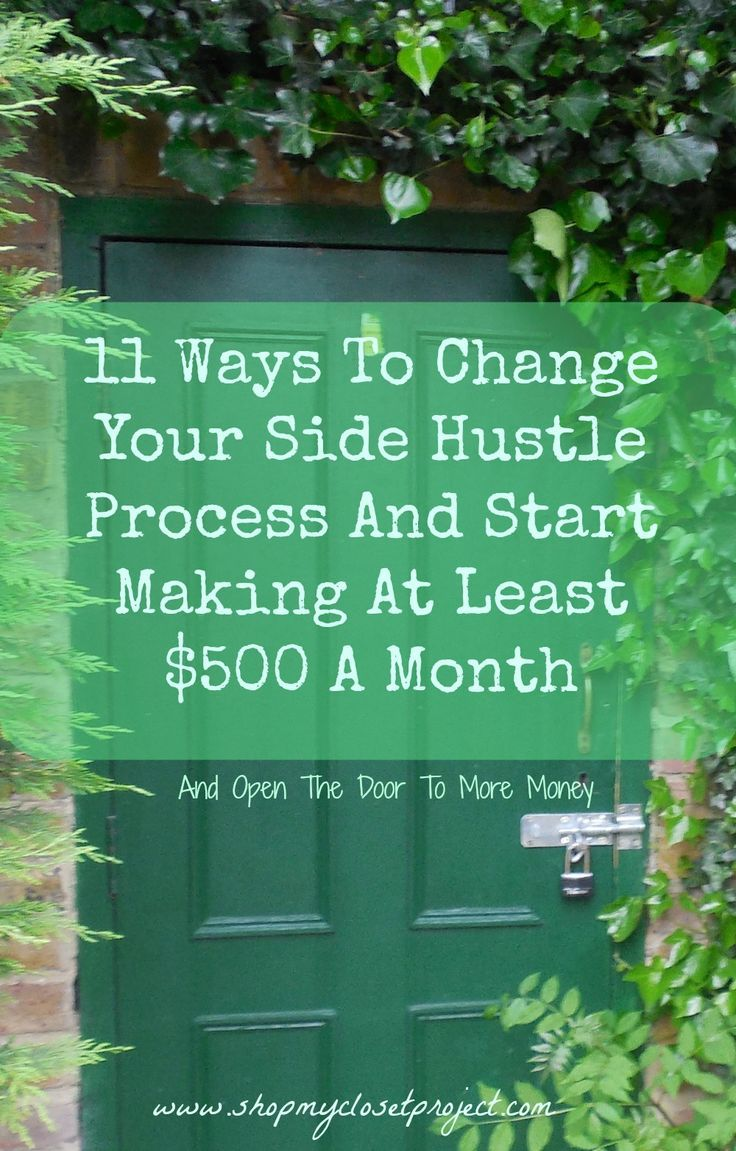 I side hustle a lot and when I was working full-time I was averaging around $500 a month with very little effort. This was a big change from when I was spending hours working retail. Here's my process and I hope it works for you!
