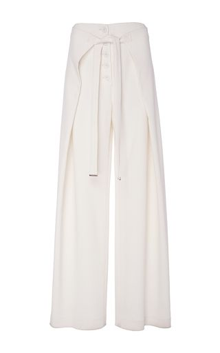 Wool Suiting Loose Wrap Pants by PROENZA SCHOULER Now Available on Moda Operandi