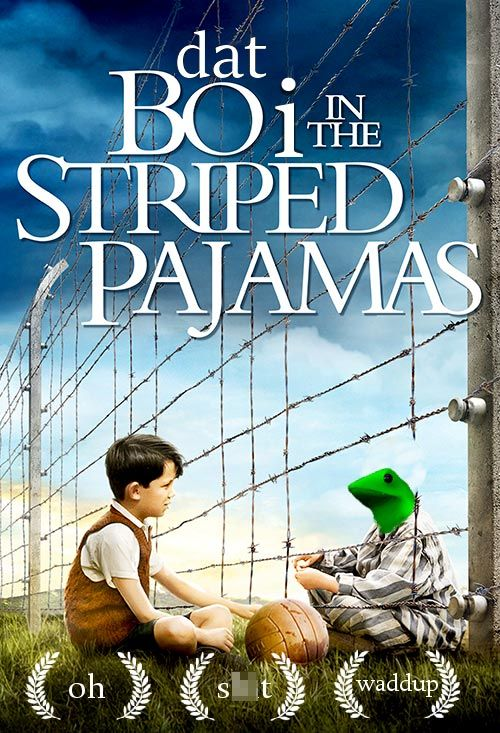dat boi meme boy in the stripped pajamas
