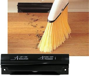 The VacPan automatic dustpan will allow you to do just that. With one simple push of the lever with your foot, the dirt and debris will be whisked away by your central vacuum system. Works with just about any central vacuum. Easily installs in your baseboard or cabinet kickboard.
