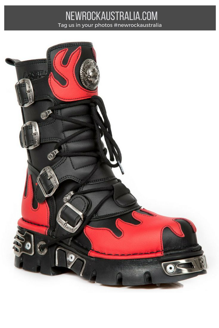The 25 best hazard symbol ideas on pinterest health hazard vegan lovers looking for a red hot deal new rock m591 c43 vegan flame boots will instantly add edge to your shoe wardrobe these edgy combat boots are buycottarizona