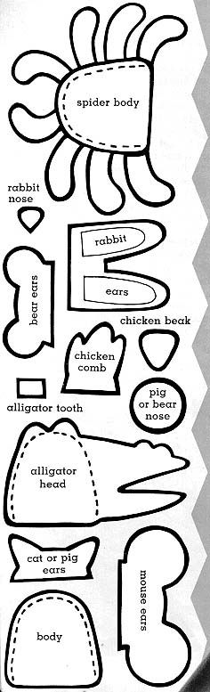 Animal Finger Puppets pattern