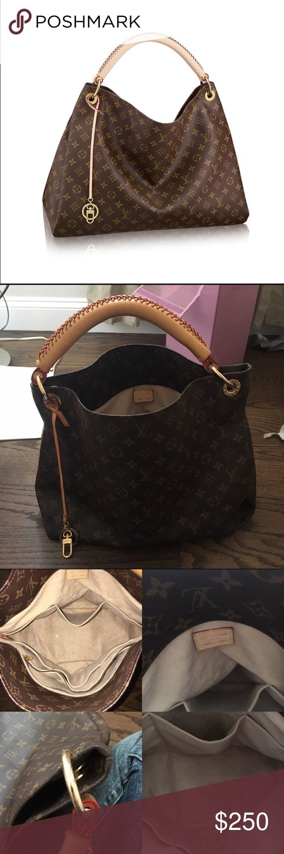 """Monogram Handbag Price reflects, almost identical to the real deal. Light wear on interior and handle as pictured. 6"""" depth, 15"""" length, 12"""" height Louis Vuitton Bags Hobos"""