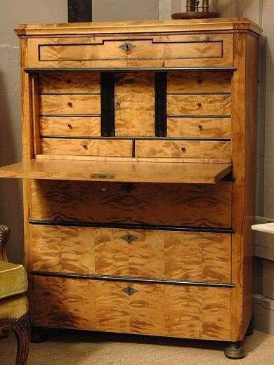 Boulot and ebonised wood secretaire c.1880. Antique FurnitureLuxury ...