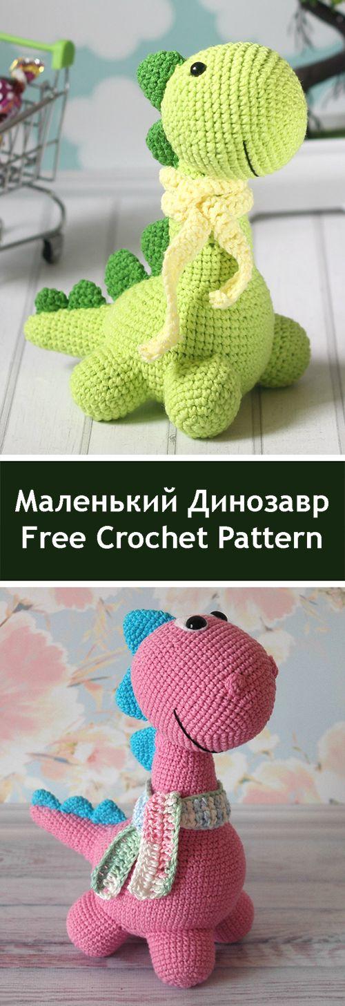 PDF Pequeno dinossauro. Oficina gratuita, esboço e descrição para crochet am ...