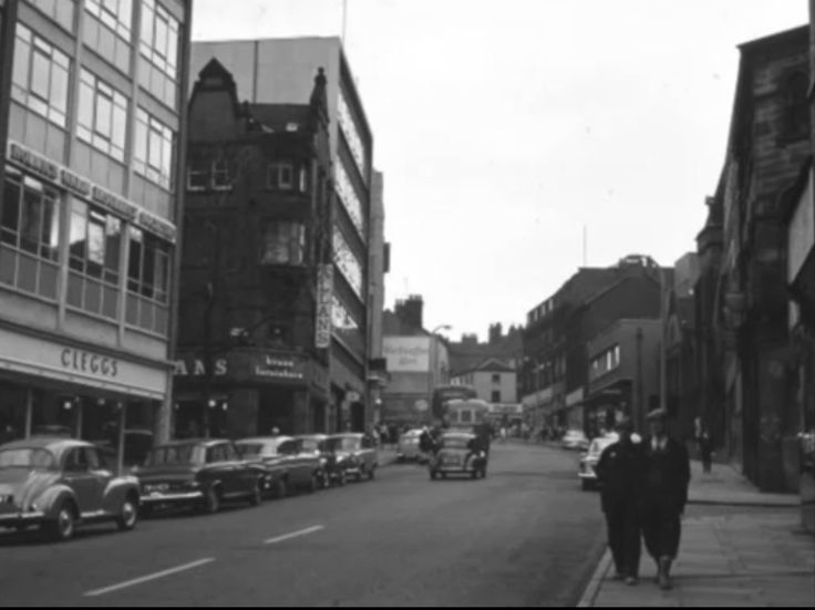 Trinity St, looking towards Hanley Town Centre.  The road turning first right is Gitana St.