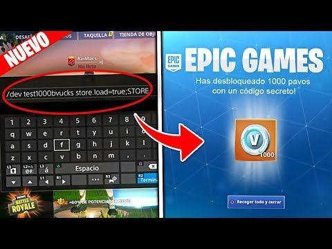 Codigo Secreto Para Conseguir Pavos Gratis En Fortnite Bug Temporada 8 Youtube Cosas Gratis Código Secreto Dibujos De Juegos