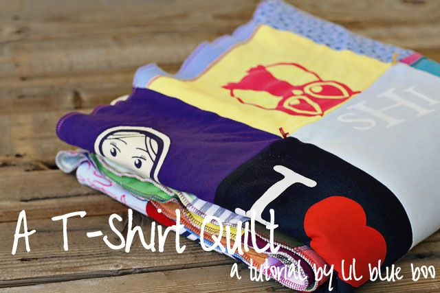 I have a stack of t-shirts I've been meaning to make a quilt out of...now I've got a tutorial!