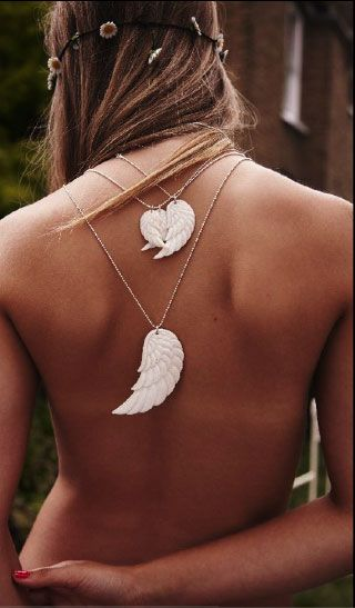 Sexy angel wing necklace