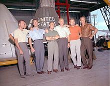 The original Mercury 7 astronauts were selected in April 1959: Gordon Cooper, Wally Schirra, Alan Shepard, Gus Grissom, John Glenn, Deke Slayton, Scott Carpenter.