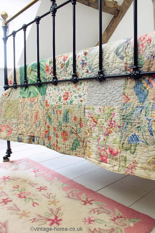 Vintage Home Shop - Beautiful 1920s Welsh Patchwork Quilt: www.vintage-home.co.uk