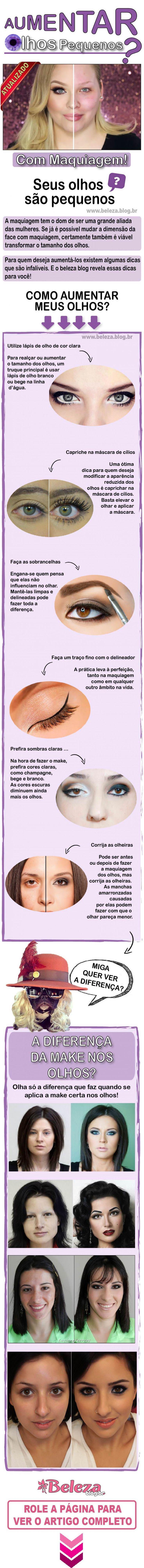 Maquiagem para Aumentar Olhos Pequenos