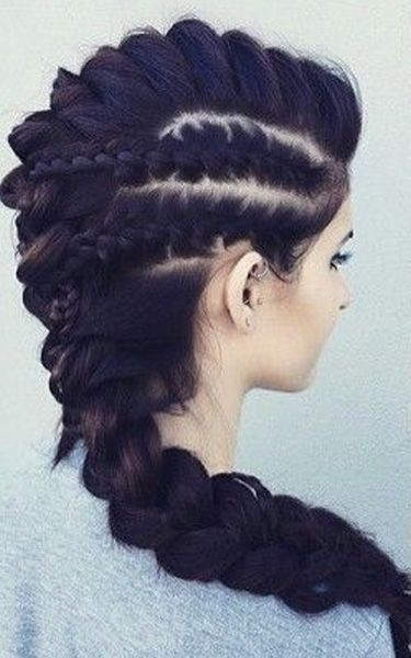 Modern Mohawk Braided Hairstyles 2017 for Girls