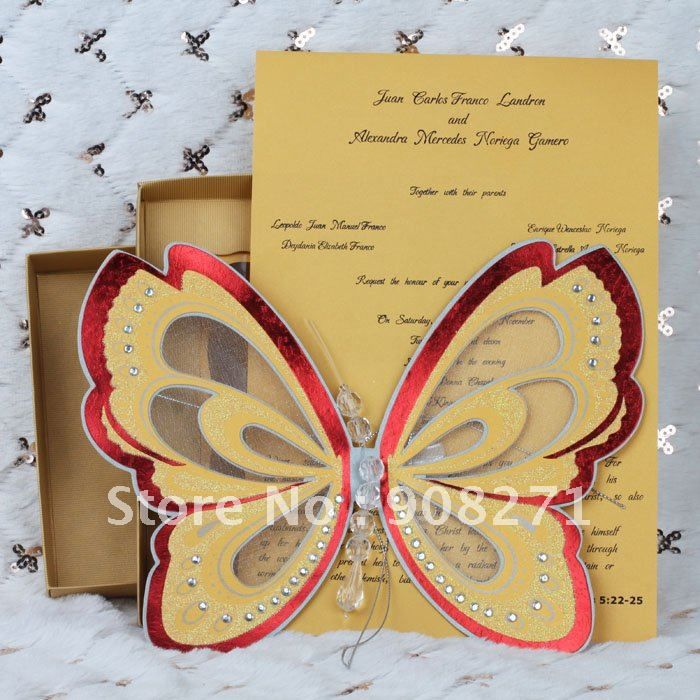 2012 New Invitation Cards, Yellow Wedding Invitation, Good Design, Free  Shipping By DHL