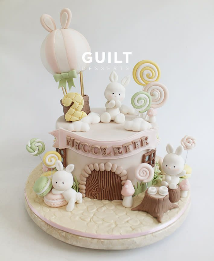 Cute bunnies by Guilt Desserts