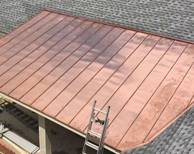 Copper Roof Panels Copper Roof Installers Maryland Roofing Company Copper Roof Roof Panels Roofing