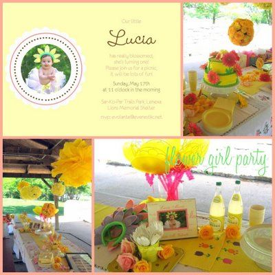 """May Flowers"" themed girl birthday party"