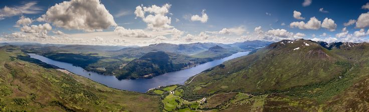 Kieran Campbell posted a photo:  Eight shots from above na Cnapanan on the banks of Loch Laggan. I can't decide how bad the horizon to the west is, but hanging out of a paraglider is a good enough excuse for a slightly skew-iff panorama I think!  From the left, looking east along the north shore to Kinloch Laggan. Below, the very bonny spot that is Aberarder. Across the water, Binnein Shios dominates the exaggerated elbow of the loch, and Arverikie Forest lies beyond. Back on this side of…