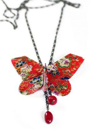 Joyas de papel Basic Collar Mariposa | Joyas de papel