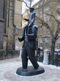 Kafka's statue in Prague. Find more about Kafka´s Prague at http://praguetravelconcierge.com/guide-to-franz-kafka-and-prague