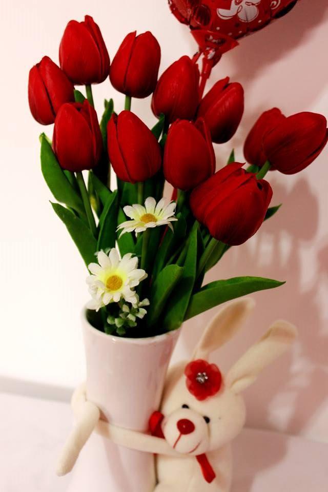 Arreglos Con Tulipanes En Floreros Tulipanes Rojos Visita Mi