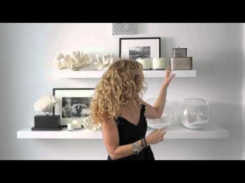Kelly Hoppen : Shelves - styling for the bathroom