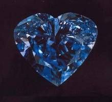 Heart of Eternity: The Heart of Eternity diamond is one the most famous fancy blue diamonds. It came from the premier mine in South Africa which has the largest production of fancy colored diamonds