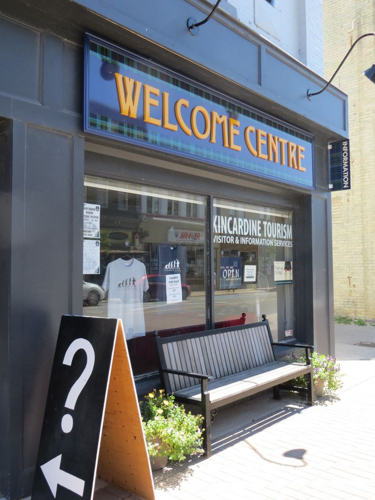Kincardine 'Welcome Centre' located at 777 Queen Street (downtown) has a ton of information and free brochures to share with everyone.