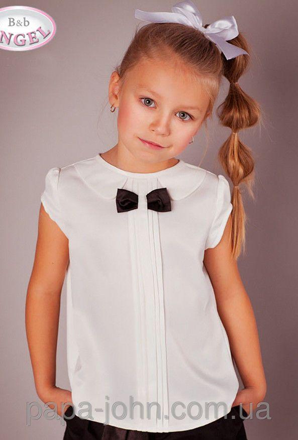 """Блузка атлас с воротничком, молочная, Baby ANGEL: продажа, цена в Николаеве. школьная форма от """"Интернет-магазин Papa John"""" - 238894710"""