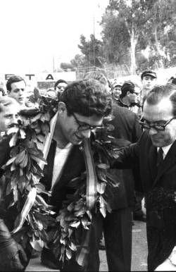 Hoy hubiese cumplido 78 años Renzo Pasolini (Rimini 18/07/1938 - Monza 20/05/1973). En Alicante dejo la impronta de su grandeza como piloto con su victoria en el III Trofeo Internacional de Vistahermosa en 1967. En la foto de Perfecto Arjones...