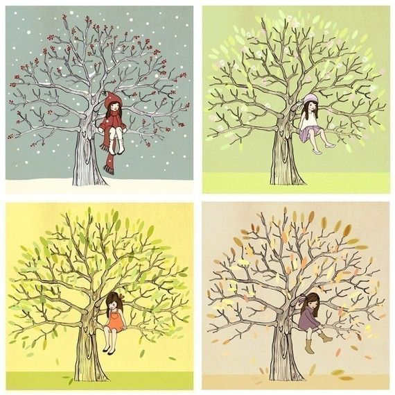 I want all these prints! Soo cute!   The 4 seasons from Belle and Boo