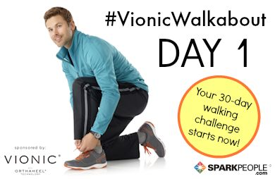 Starting @SparkPeople's 30-day #VionicWalkabout Challenge today! Committing to walk 6 days per week for the whole month. Wish me luck!