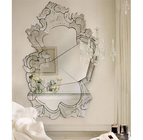 Boca do Lobo | Through a passionate explosion of romance and drama, the modern design Venice Mirror stirs emotion in anyone that catches its eye. #venetianmirror #largemirror #vanitymirror Find more here: http://www.bocadolobo.com/en/limited-edition/mirrors/venice/index.php