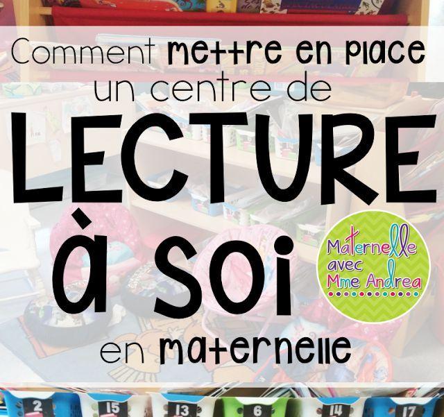 Lecture à soi | centres d'apprentissage | idées pour la maternelle | littératie en maternelle