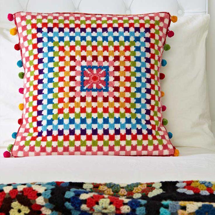 Jacqui P Crafts - Granny Square Supersize Stitches Cross Stitch Kit, £45.00 (http://www.jacquip.co.uk/granny-square-supersize-stitches-cross-stitch-kit/)