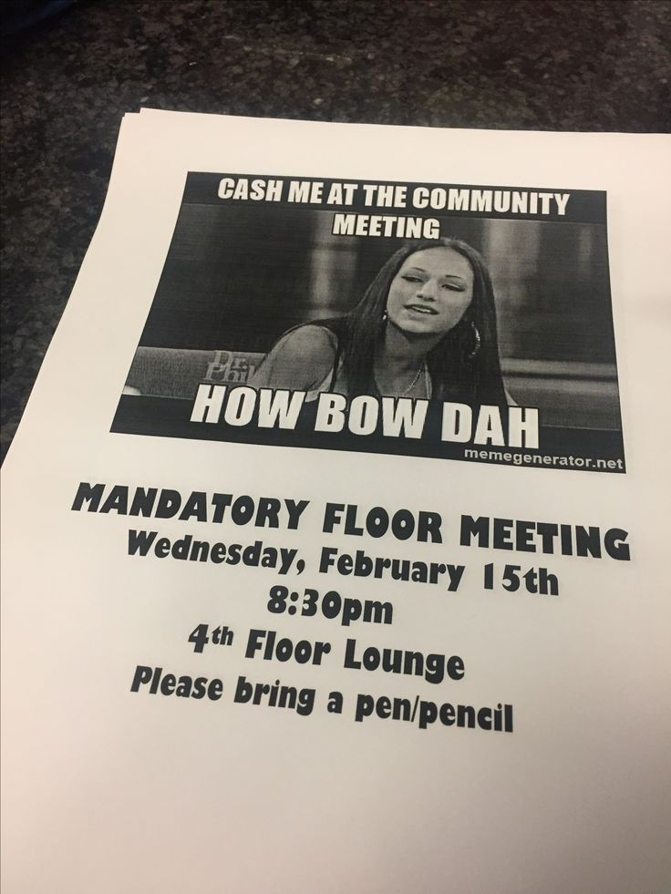 ra community meeting posters