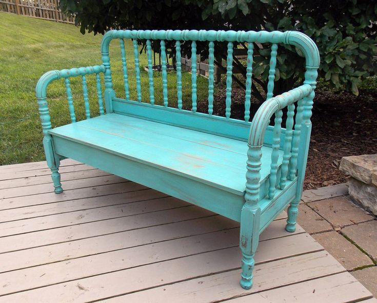 Jenny Lind bench- could make from my okd bed for dining table